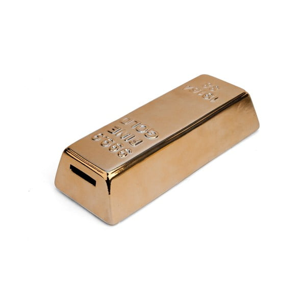 Ceramiczna skarbonka w kształcie sztabki złota Kikkerland Gold Bar