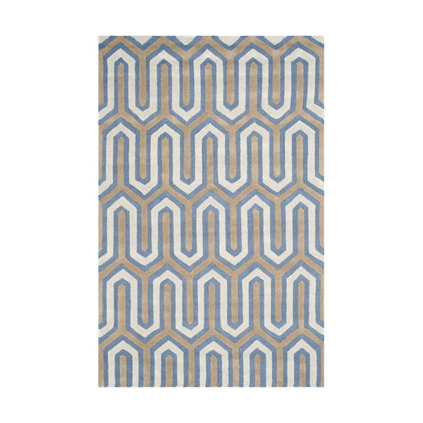 Modrý koberec Safavieh Leta, 182 x 121 cm