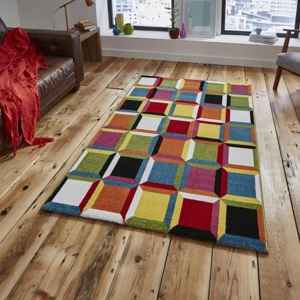 Barevný kostkovaný koberec Think Rugs Sunrise 160x220cm