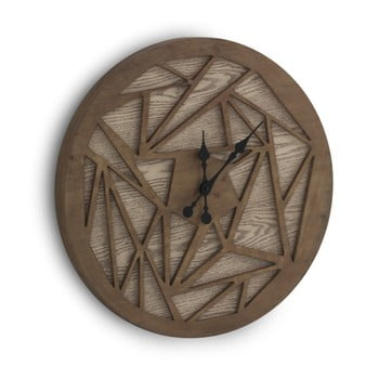 Ceas de perete Geese Time Traveller, Ø 60 cm, maro de la Geese