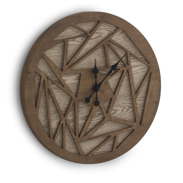 Ceas de perete Geese Time Traveller, ⌀ 60 cm, maro