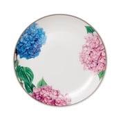 Dezertní talíř z kostního porcelánu Ashdene Pastel Hydrangeas, ⌀15cm