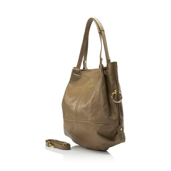Kožená kabelka Lisa Minardi 5249 Fango