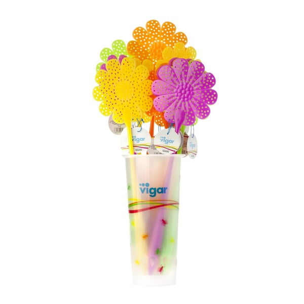 Plácačka na mouchy Flower Power, fialová