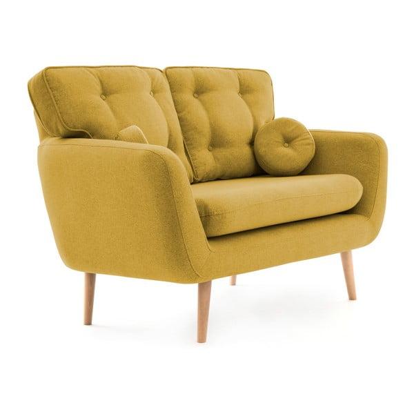 Canapea cu 2 locuri Vivonia Malva, galben