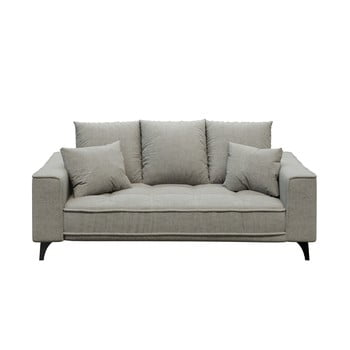 Canapea cu 2 locuri devichy Chloe, gri deschis