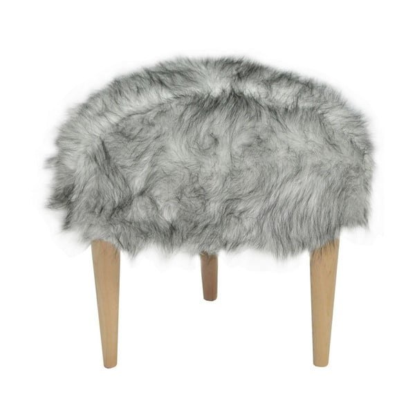 Taburet Happy Barok Furry, černobílý