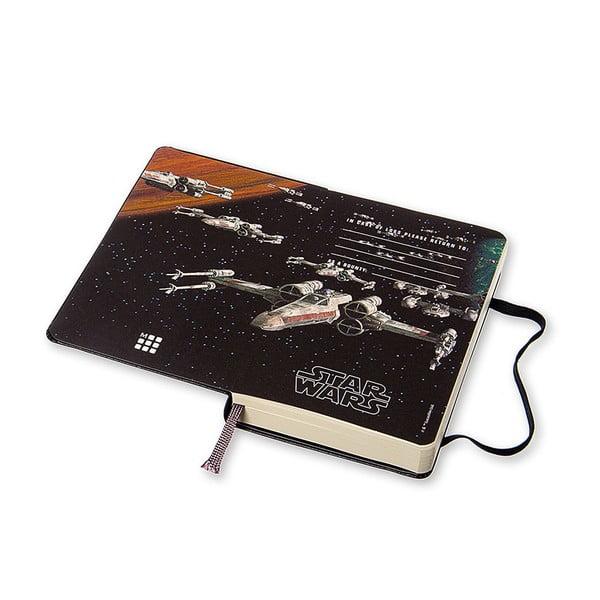 Denní diář Moleskine Stars Wars, 9x14 cm