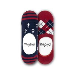 Sada 2 párů nízkých ponožek Funky Steps Time, velikost 39 – 45
