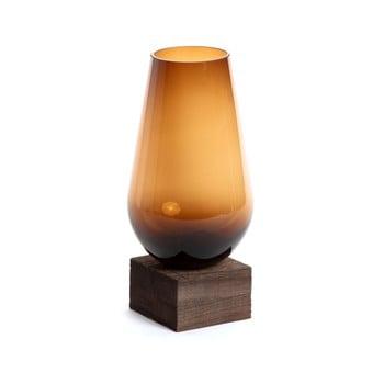 Vază din sticlă La Forma Salong, adâncime 30 cm, maro de la La Forma