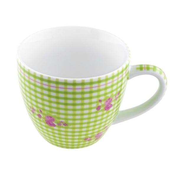 Porcelánový šálek Karo, zelený 4 ks