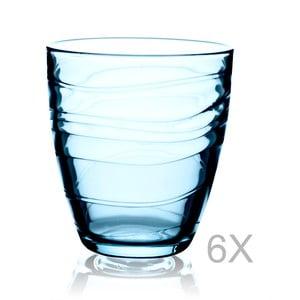 Sada 6 modrých sklenic Paşabahçe, 285 ml