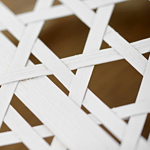 Coș din bambus a'miou home Shadows, ⌀ 33cm, alb