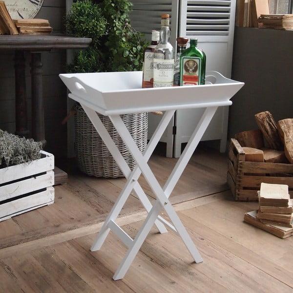Skládací stolek se snímatelným podnosem Butler