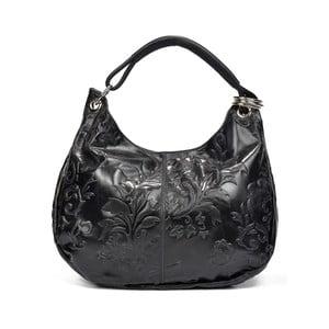 Černá kožená kabelka Renata Corsi Bella