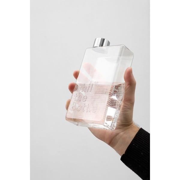 Průhledná recyklovatelná cestovní láhev Palomar Phil The Bottle Tokyo, 500ml