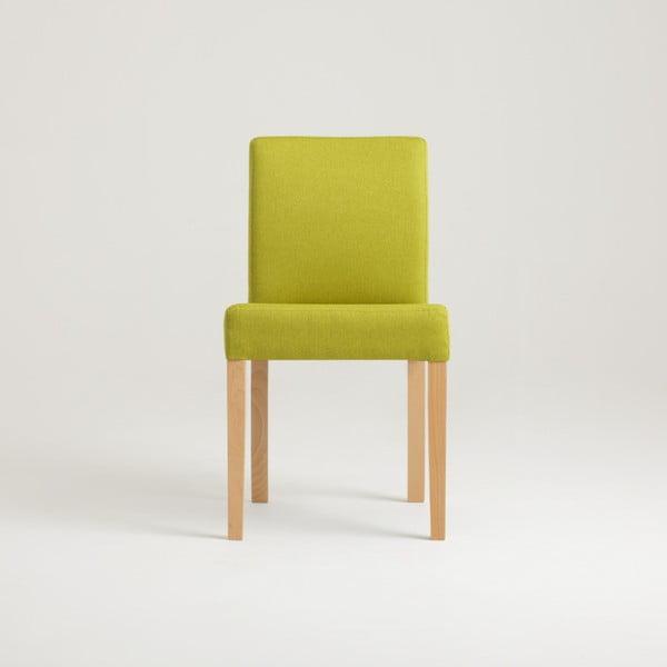 Zelená židle s přírodními nohami Custom Form Wilton