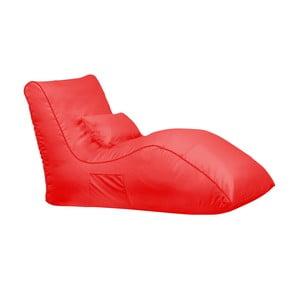 Červený sedací vak Sit and Chill Palawan Chaise Longue