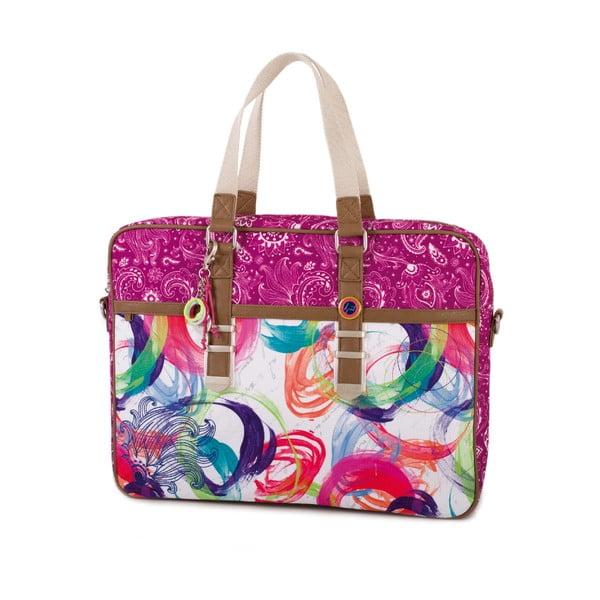Bílo-růžová taška na notebook SKPA-T, 39 x 30 cm