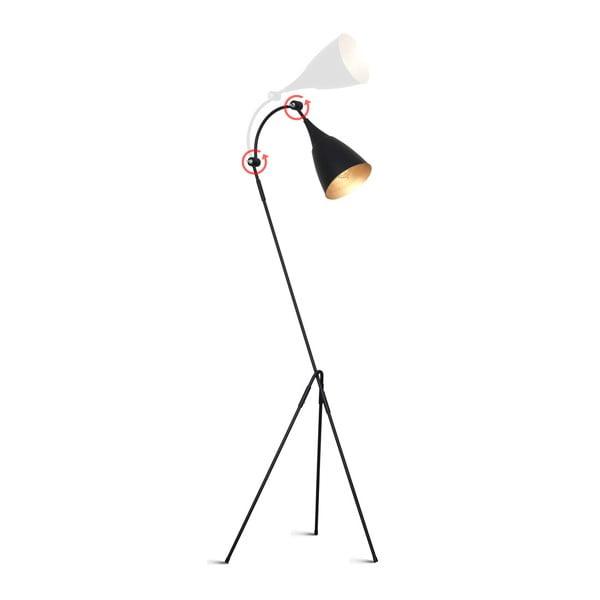 Čierna voľne stojacia lampa Glimte Piko II Black