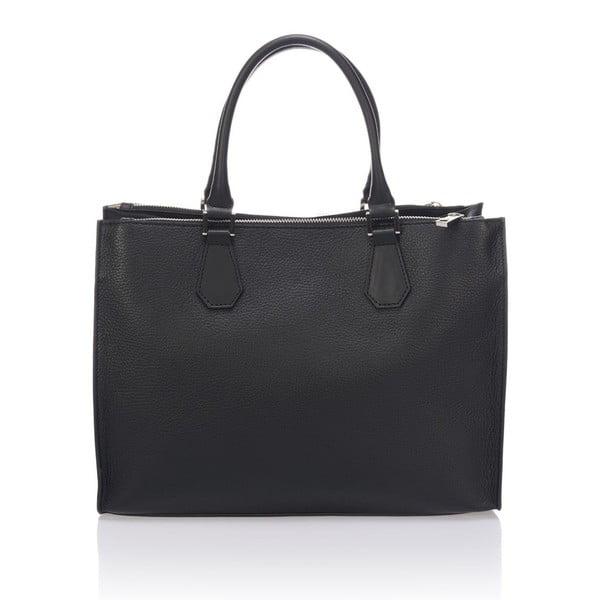 Kožená kabelka Krole Klaudie, černá
