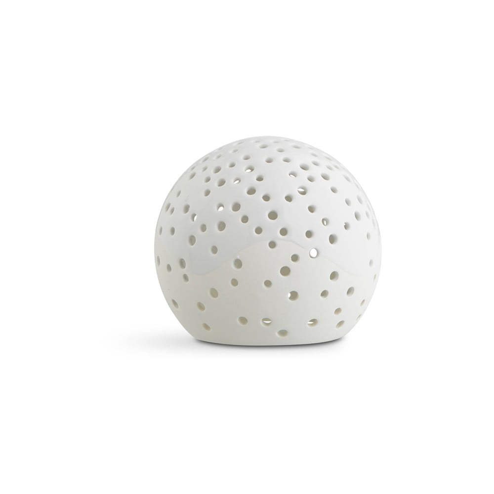 Bílý vánoční svícen z kostního porcelánu Kähler Design Nobili, ⌀ 12 cm Kähler Design