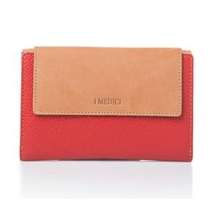 Červená kožená dámská peněženka Medici of Florence Coletta