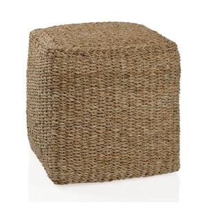 Puf z mořské trávy Sea, 40x40 cm
