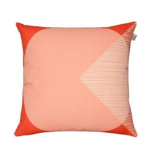 Pernă cu husă reversibilă Orla Kiely OK Cushion, 45 x 45 cm, portocaliu