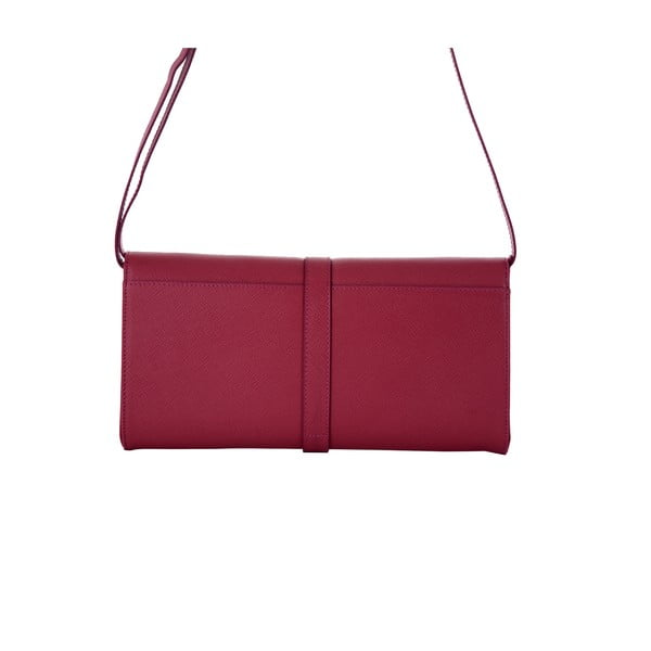 Růžová kabelka z pravé kůže Andrea Cardone Calandra