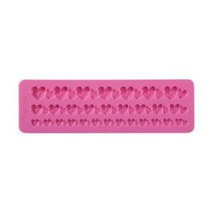 Růžová silikonová formička Tescoma Delícia Deco Bordura se srdíčky