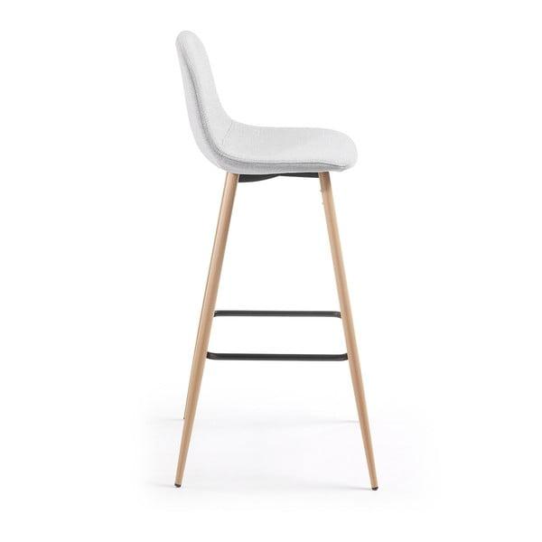 Světle šedá barová židle La Forma Nilson