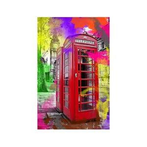 Tablou În cabina telefonică, 45 x 70 cm