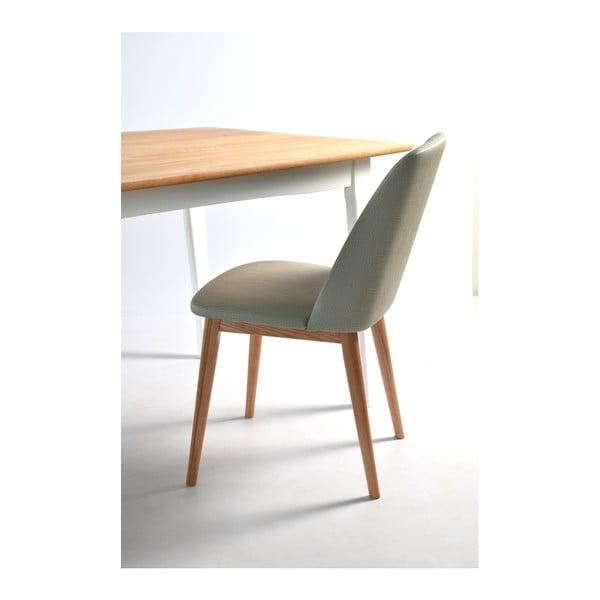 Sada 2 béžových židlí s dubovým podnožím RGE Perstorp