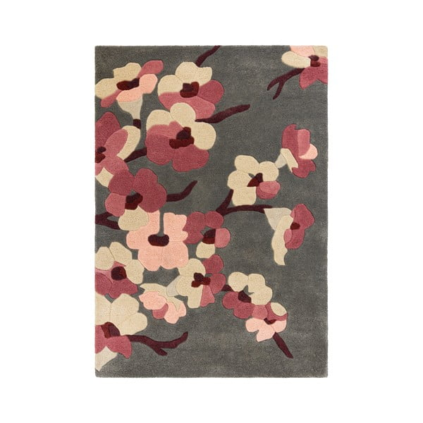 Covor Flair Rugs Blossom Charcoal Pink, 120 x 170 cm