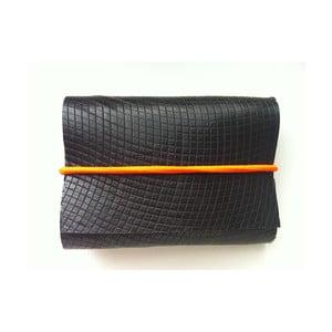 Peněženka Asphalt s neonově oranžovou a žlutou gumičkou