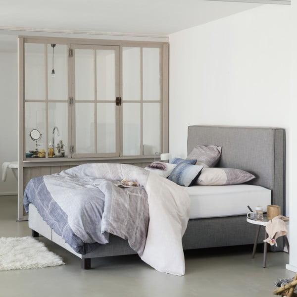 Světle šedá boxspring postel Revor Milano,160x200cm