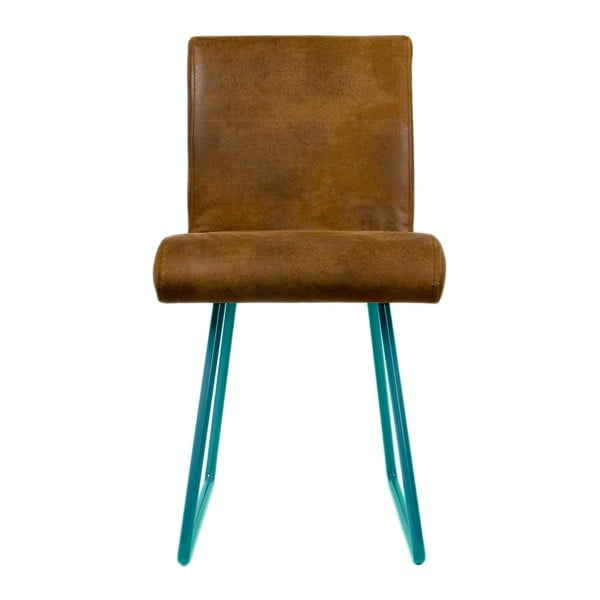 Židle Skids Leather Look Turquoise