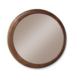 Nástěnné zrcadlo s rámem z ořechového dřeva Wewood - Portuguese Joinery Luna, Ø90cm