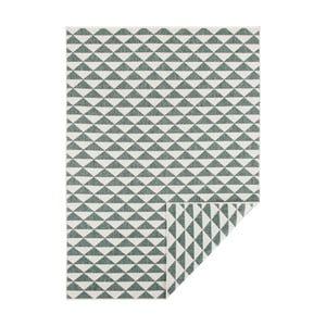 Zeleno-krémový oboustranný koberec vhodný i na ven Bougari Tahiti, 200 x 290 cm