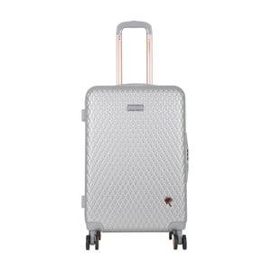 Světle šedý cestovní kufr LULU CASTAGNETTE Rachel, 71l