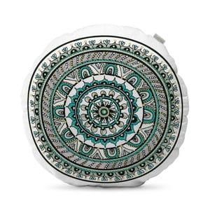 Tyrkysově modrý polštář HF Living Mandala, ⌀50cm