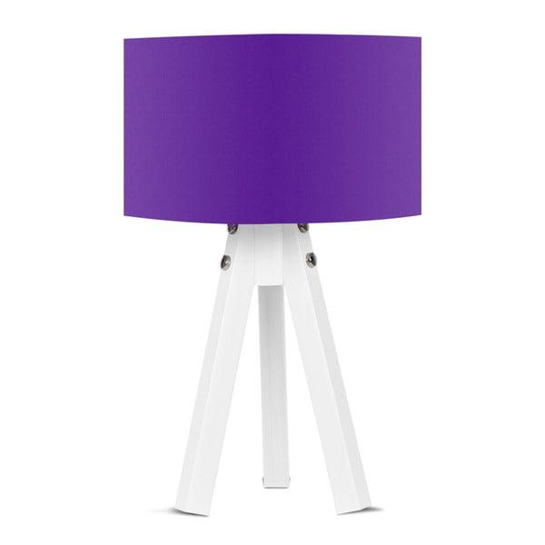 Stolová lampa s fialovým tienidlom Kate Louise Bianca