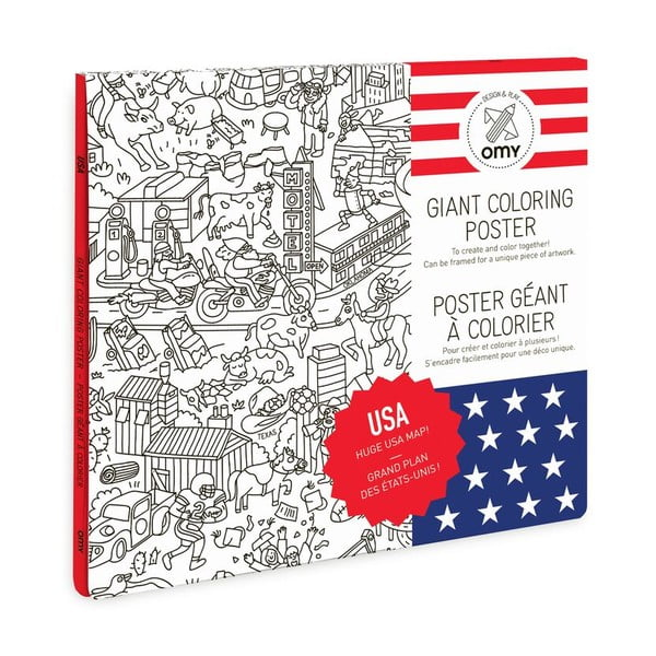 Omalovánka OMY USA (70 x 100 cm)