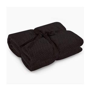 Pătură din microfibră DecoKing Henry, 70 x 150 cm, negru