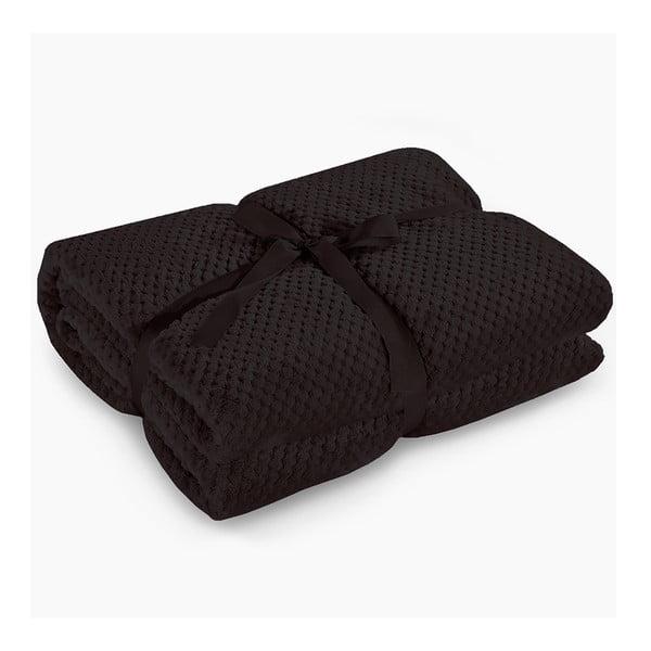 Henry fekete mikroszálas takaró, 70 x 150 cm - DecoKing