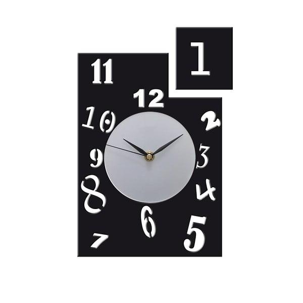 Hodiny Horloge, černé