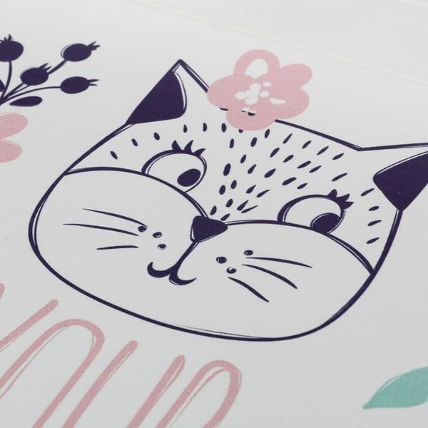 Sada 2 bílých tácků Unimasa Kitty,40x25,5cm