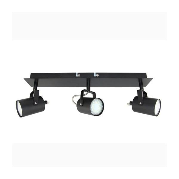 Černé stropní bodové svítidlo Kobi Arles Triple