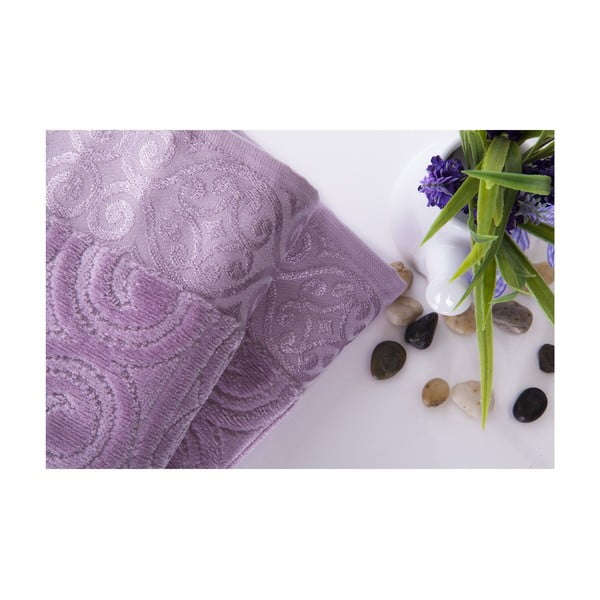 Set dvou ručníků Hanzade Lilac, 50x90 cm